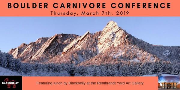 Boulder Carnivore Conference Meat Keto